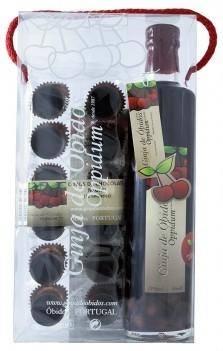 Conj. Ginja Oppidum 0,50LT + 12 Copos de Chocolate