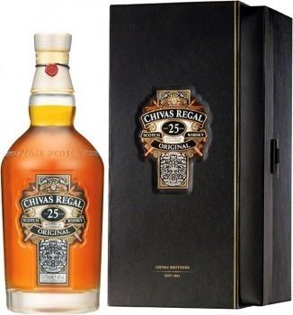 Whisky Velho Chivas Regal 25 Anos Com Caixa Luxe - Escócia