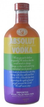Vodka Absolut Blue Color Moy15
