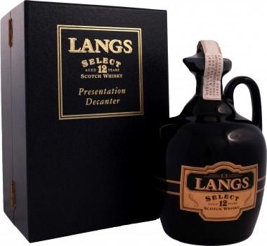 Whisky Velho Langs Decanter 12 Anos - Escócia