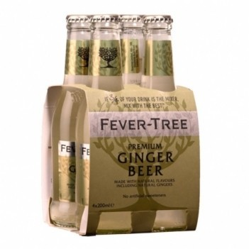 Agua Tonica Fever Tree Ginger Beer    4 Unidades