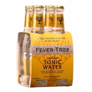 Agua Tonica Fever Tree Indian Tonic    4 Unidades