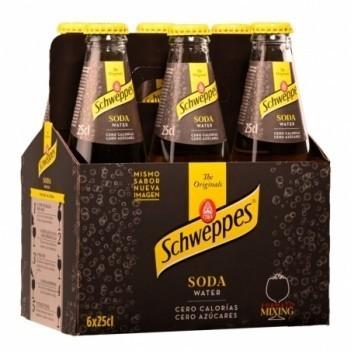 Agua Tonica Schweppes Soda   6 Unidades