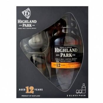 Whisky Highland Park 12 Anos Malt Single Malt - Com Copos