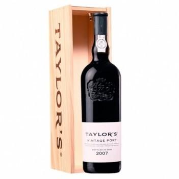 Vinho do Porto Vintage Taylors 2007 c/ Caixa de Madeira