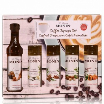 Monin Coffee Xarope Set (5 x 5cl)