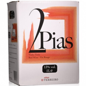 Vinho Tinto 2 Pias  Bag In Box   5 Litros