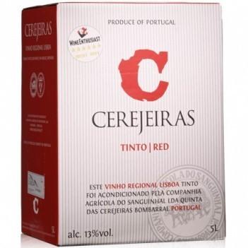 """Vinho Tinto Cerejeiras  """"Bag In Box""""  5 Litros 2013"""