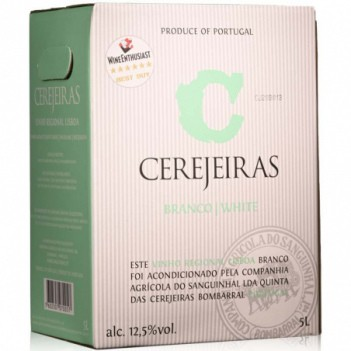 """Vinho Branco Cerejeiras  Regional  """"Bag In Box""""  5Litros 2013"""